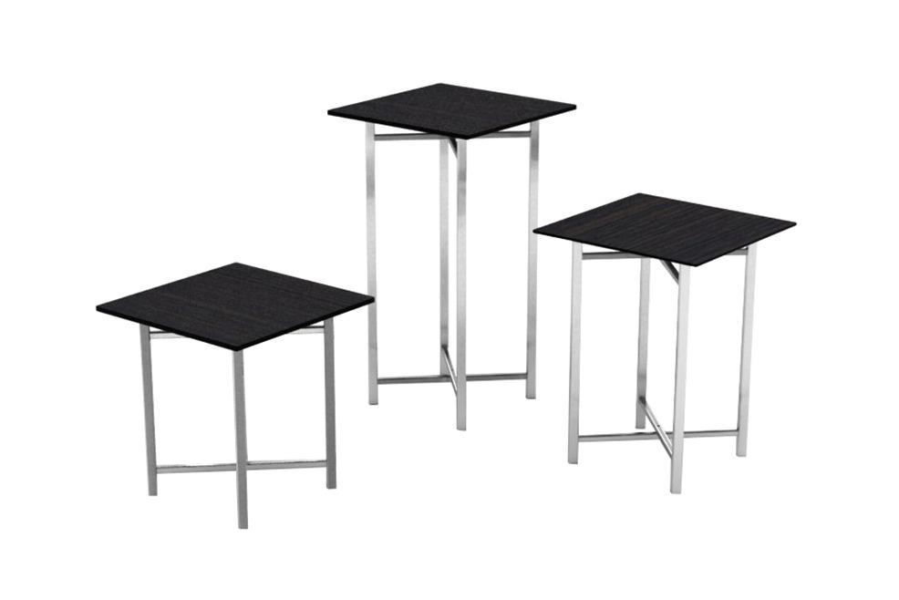 Buffet Table   Stainless Steel Legs, Wenge Melamine Top, Square U0026  Rectangular (700 Series)